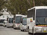 'MUM AND DAD' BUS BUSINESSES STAGE CANBERRA RALLY