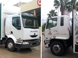 Mack Midlum MV16 vs. Fuso Fighter 10.
