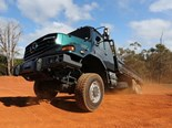 Bush bashing in a Mercedes-Benz Zetros