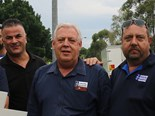 TWU NSW branch secretary Richard Olsen (centre) says a fixed-term payment rule will benefit the trucking community.