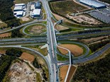 An aerial view of Boundary Road Interchange.