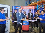 Michael Crawford cuts the ribbon at the new TRP Pakenham store