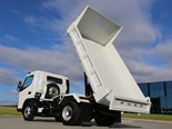 Fuso's Wide Cab Canter Tipper has a gross vehicle mass of 7.5 tonnes