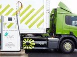 A Waitrose Scania fuels up with CNG