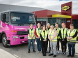 Eight women step up for truck driving duties