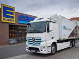 German supermarket chain tests eActros
