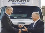Daimler delivers first electric truck to Penske