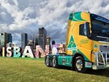 The Volvo FH in 'Australian Made' livery