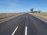Recent work on the Warrego Highway: wide centreline markings