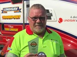 Lindsay Transport driver honoured for fiery crash rescue