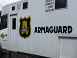 An Armaguard vehicle