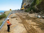Work begins on massive slip at Ohau Point