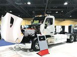 Peterbilt's all-electric Model 579 day cab tractor unit