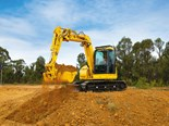 Komatsu zero-swing mid-sized excavators released