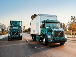 Volvo demonstrates electric heavy-duty trucks in North America