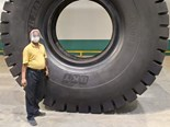"BKT's new 57"" Giant tyre"