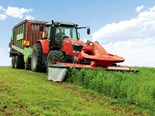 The Kuhn GMD 3215 F mower makes light work mowing lucerne