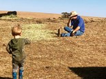 Aussie farmer floored by the drought