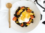 Black rice breakfast with summerfruits and yoghurt