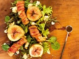 Roasted fig salad with pancetta croutons...