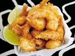 Coconut prawns with chipotle lime mayo