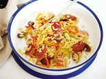 Risoni and chorizo salad