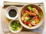 Tiger prawn and miso broth