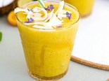 Mango, lime and coconut smoothie