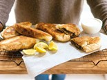 Lamb and feta gozleme