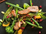 Sticky duck stir-fry