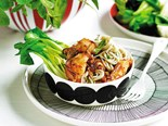 Lemongrass chicken with herb noodles