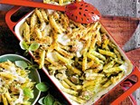 Chicken and pesto pasta bake