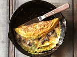 Mushroom, herb and cheese omelette