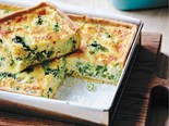 Broccoli, pea and cheddar tart