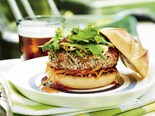 Pork and sesame burger