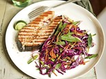BBQ salmon cutlets with nam jim slaw