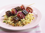 Lamb kebabs with herb couscous