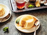 Lime Panna Cotta with Rum Syrup Recipe