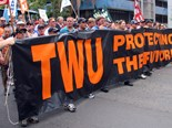 Not so fast: TWU rallies to prevent minimum rates delay