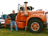Sunny Warby, one of the Sydney Truckies' Reunion organisers with his B Model Mack.