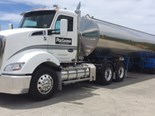 The new PacLease Kenworth T610 Daycab Rental Truck.