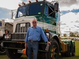 Rodney Sims and his pride and joy, an immaculately restored Mack H67.