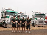 Shane Mitchell, Nick Blade, Luke Braba and Justin Twyford won Best Fleet for Dawson Haulage.