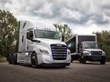 The new all-electric Freightliner eCascadia and eM2