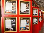 The Shell Rimula Wall of Fame at Alice Springs National Road Transport Museum