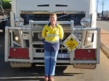 Lynette Newbey drives a Volvo FH16 on the Great Eastern and Great Northern Highways, WA