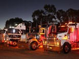 Flashback to 2017: It's lights on at the Oaklands Truck Show. Photo by Peter Schlenk
