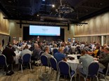 A section of the audience at the 2018 NatRoad conference on Hamilton Island.