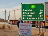 CCF (SA) CEO Phil Sutherland protesting inaction on the Augusta Highway
