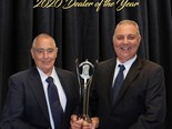 Cliff Swane, dealer principal and Brenton McKay, branch manager for Inland Kenworth DAF Wagga Wagga with the award